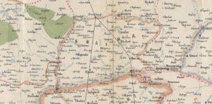 Krajna na dawnej mapie